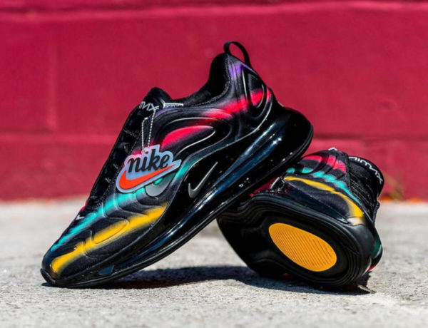 Nike Air Max 720 Neon Streaks Black Multi AO2924-023