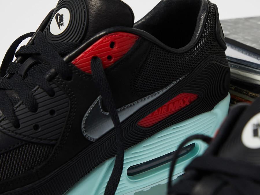 Nike Air Max 90 Premium disque noire rouge bleu pastel (1)