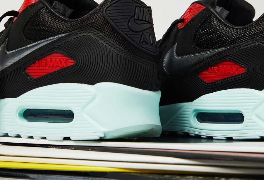 Nike Air Max 90 Premium disque noire rouge bleu pastel (2-1)