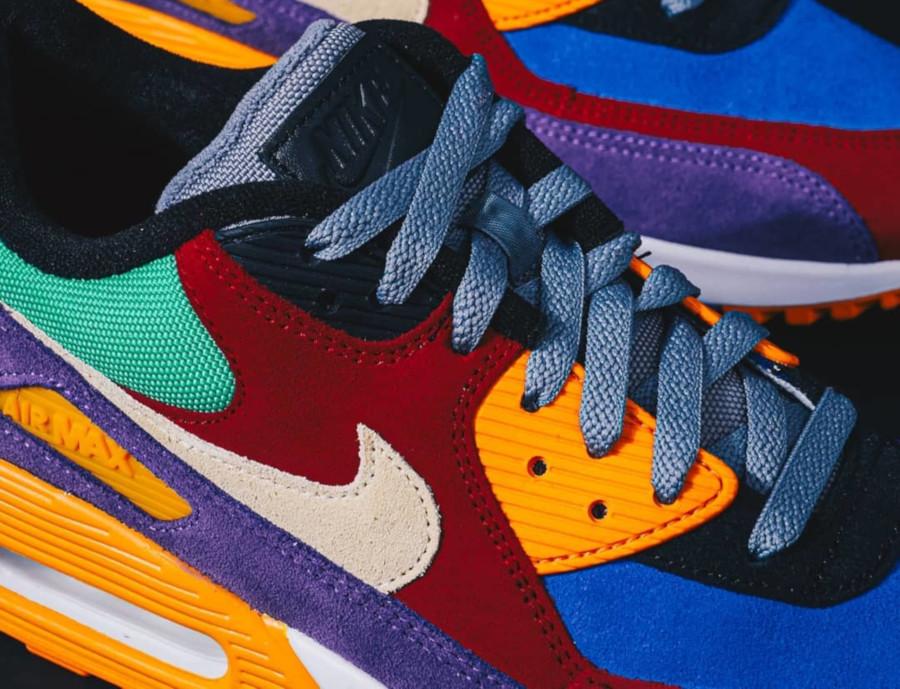 Nike Air Max 90 Premium en suède multicolore (1)