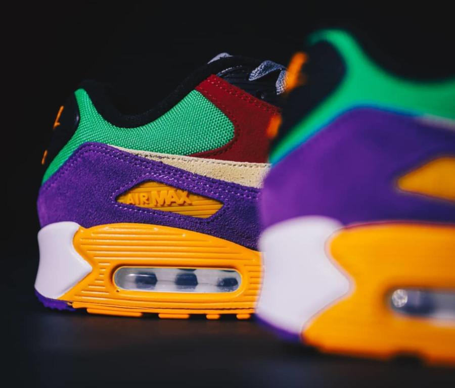 Nike Air Max 90 Premium en suède multicolore (3)