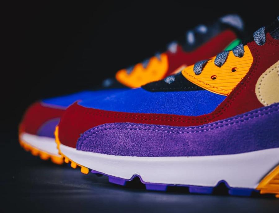 Nike Air Max 90 Premium en suède multicolore (4)