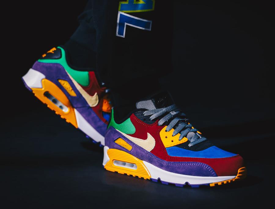 Nike Air Max 90 Premium en suède multicolore (5)