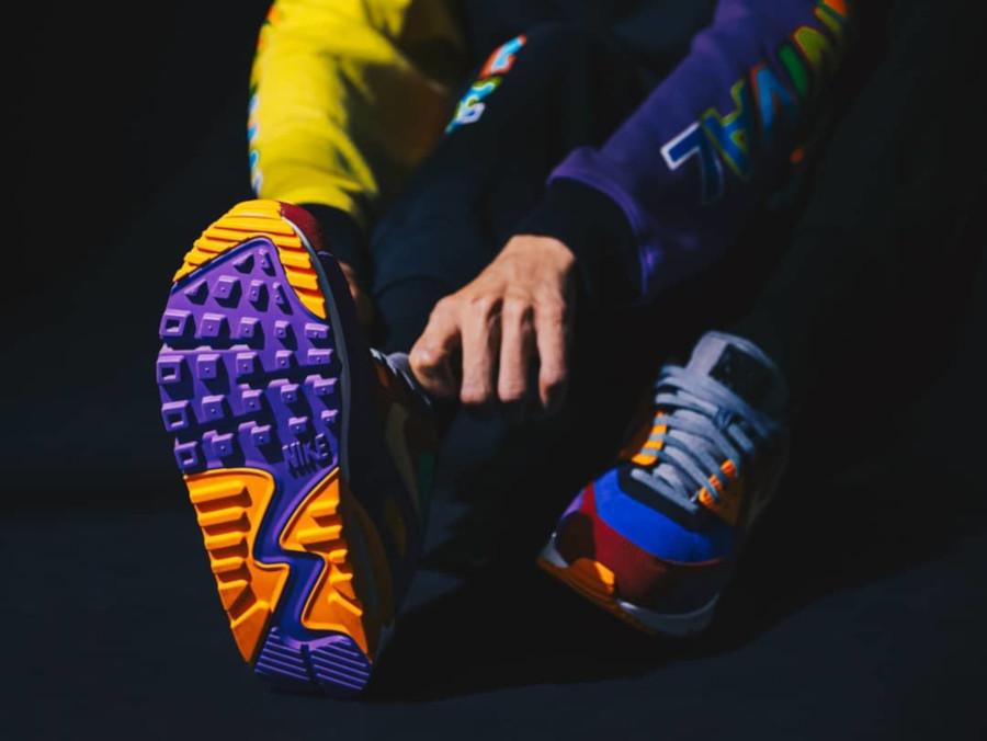 Nike Air Max 90 Premium en suède multicolore (6)