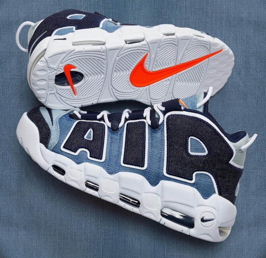 Nike Air More Uptempo 1996 en jeans bleu (1)