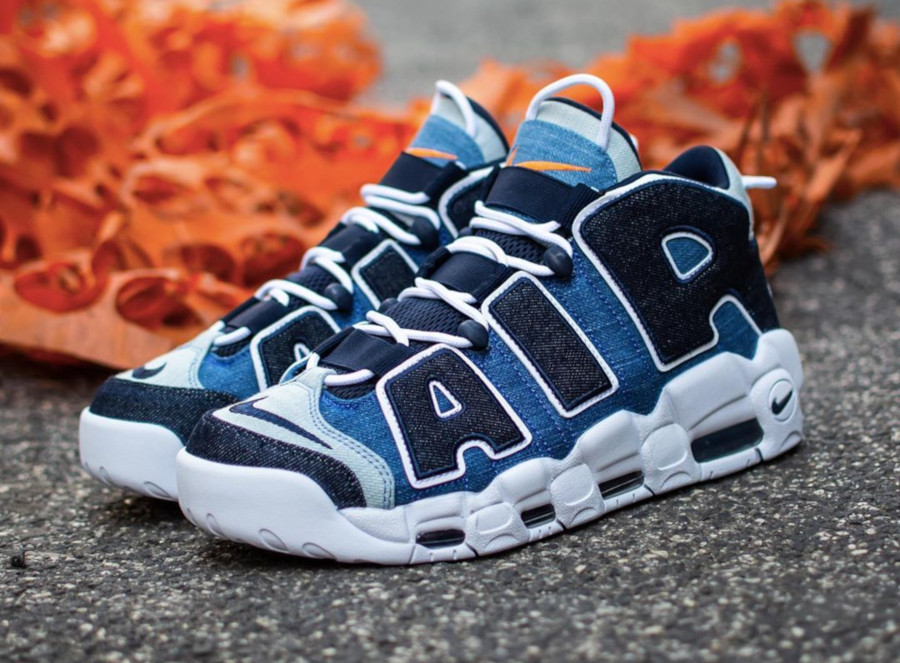 Nike Air More Uptempo 1996 en jeans bleu (5)