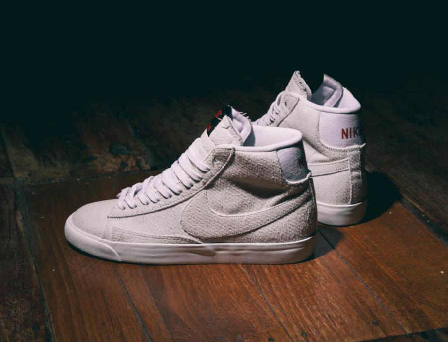 Nike Blazer Mid blanc cassé CJ6102-100 (2)