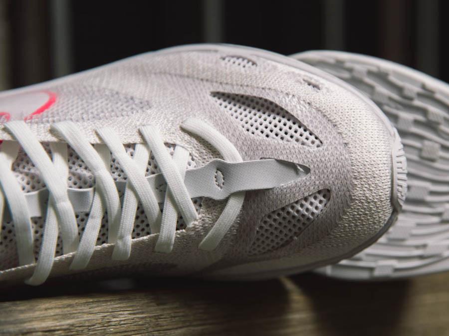 Nike Dimension Six blanche rose et orange (2)