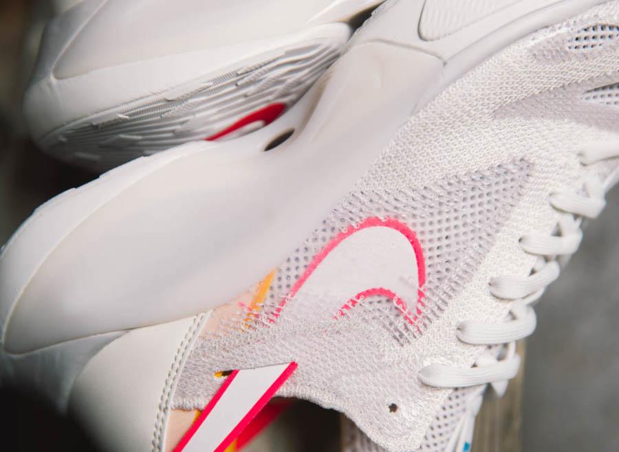 Nike Dimension Six blanche rose et orange (4-1)