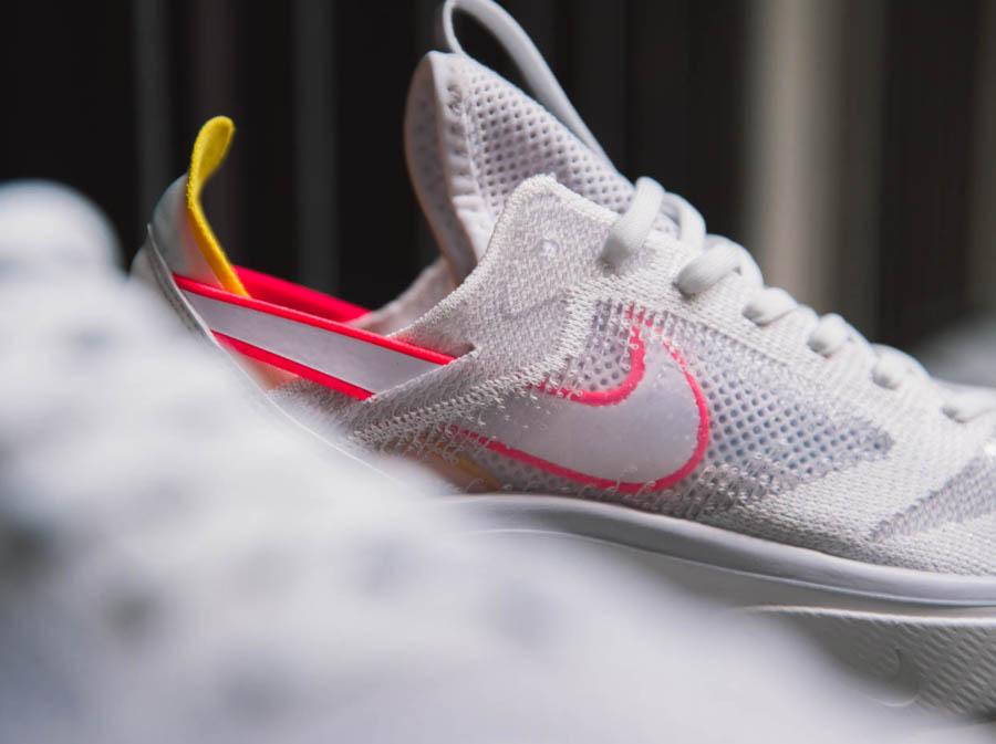 Nike Dimension Six blanche rose et orange (4)