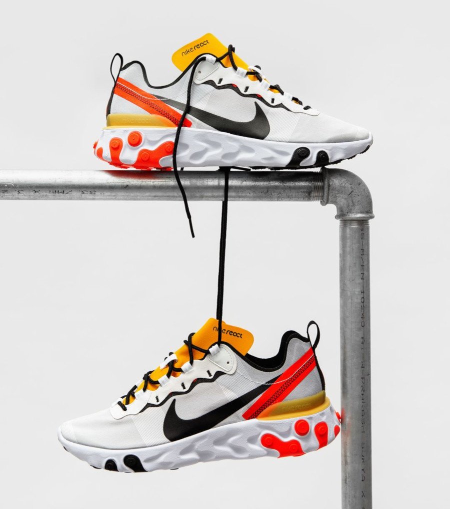 Faut-il acheter la Nike React Element 55 Bright Crimson BQ6166-102 ?