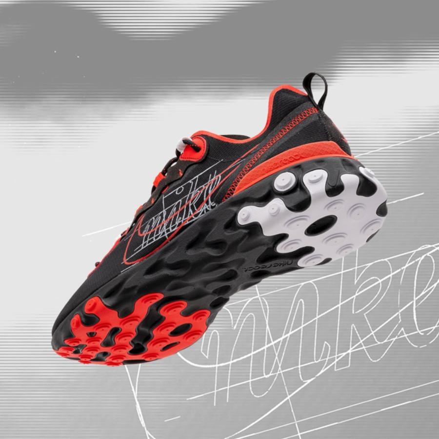 Nike React Element 55 rouge noire et blanche (3)