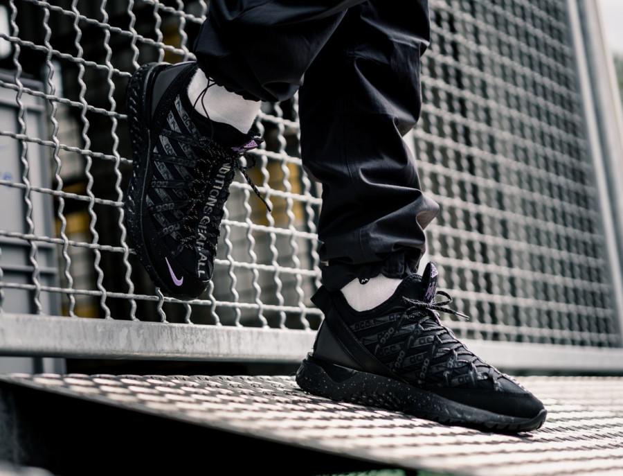 Nike React Terra Gobe noire grise et violet (2)