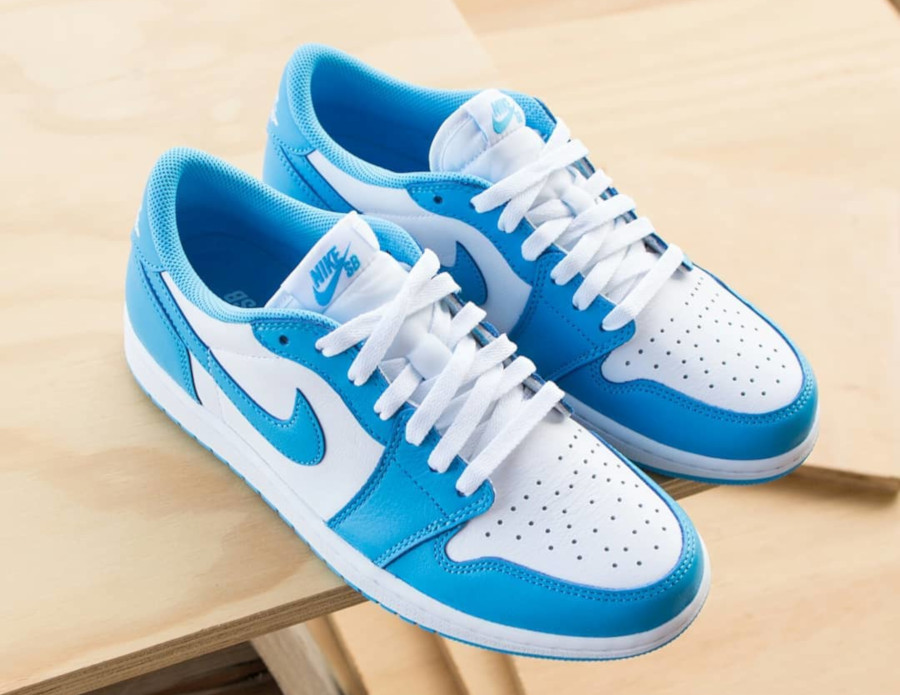 Nike SB x Air Jordan 1 Low blanche et bleu ciel (5)
