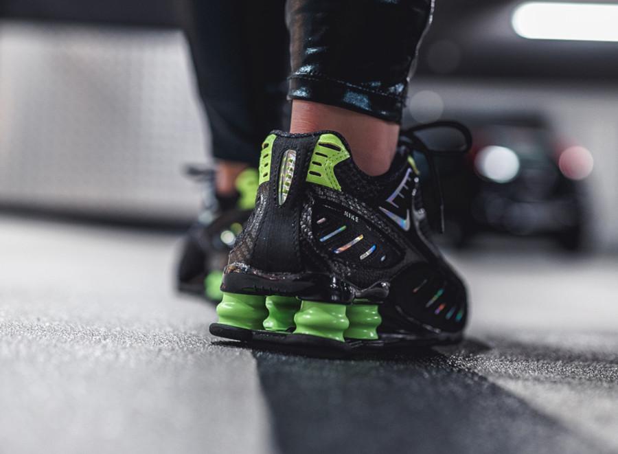 Nike Shox Enigma 9000 noire et vert citron CK2084 002 (1)