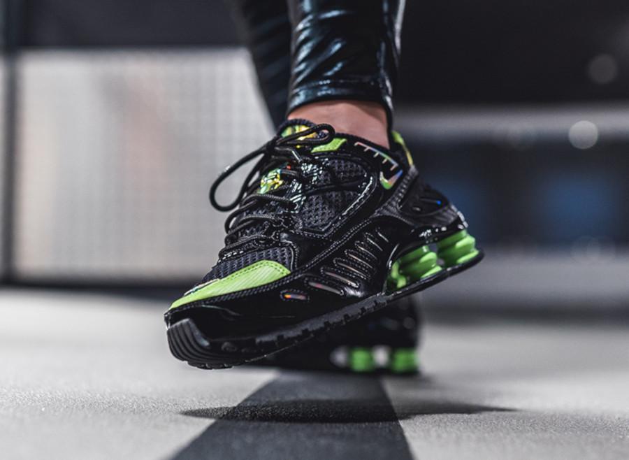 Nike Shox Enigma 9000 noire et vert citron CK2084 002 (2)