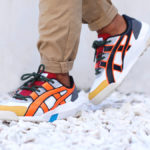 Onitsuka Tiger Big Logo Trainer White Shocking Orange