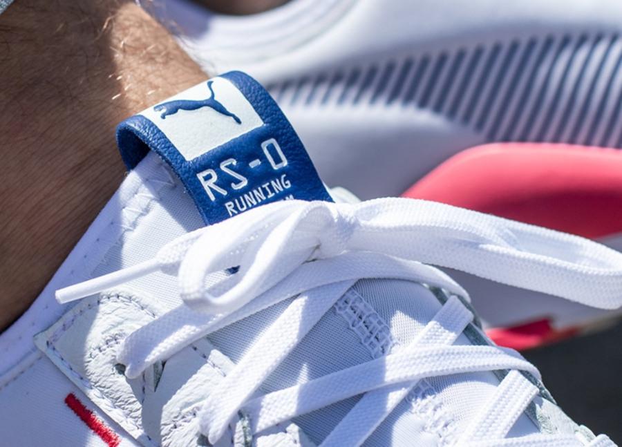 Puma RS 0 blanche bleu et rose (3)