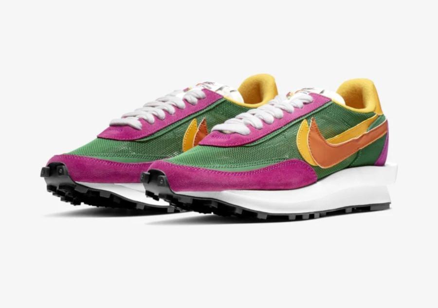 Sacai x Nike LDWaffle Pine Green