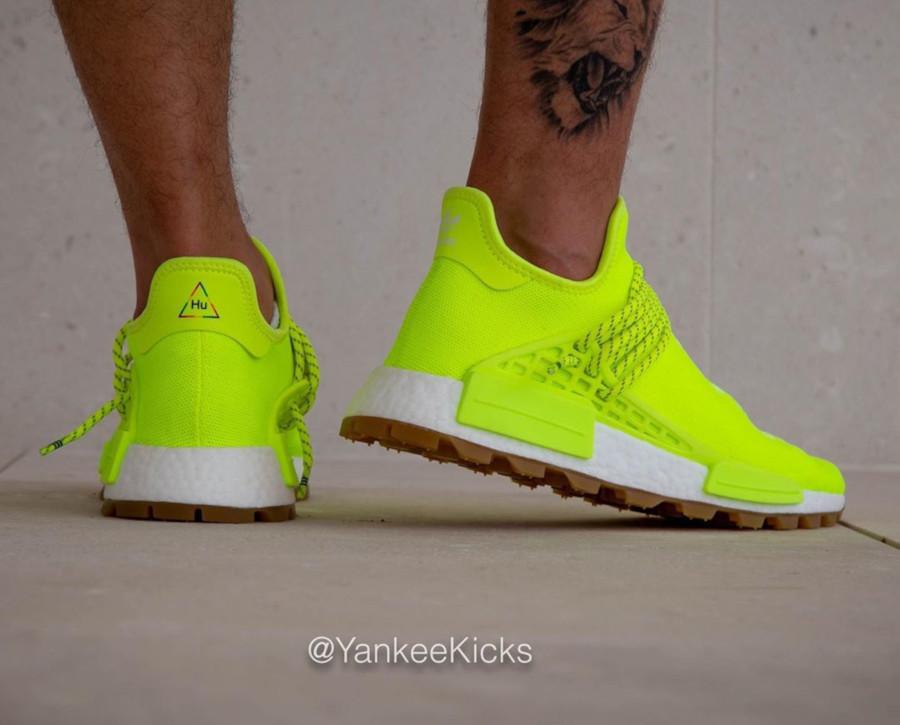 Adidas NMD Human Race jaune fluo Solar Yellow Gum EF2335 (2)