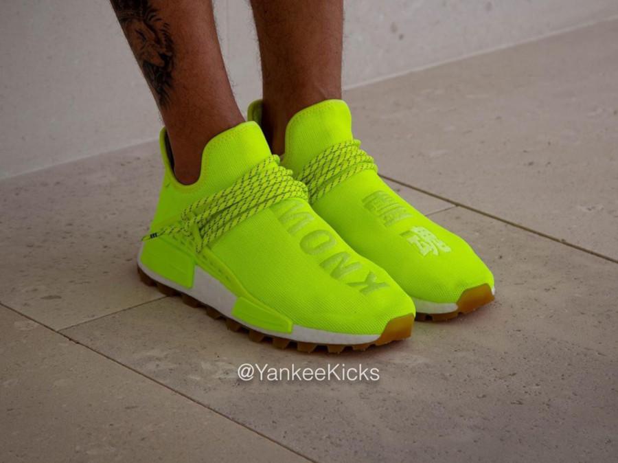 Adidas NMD Human Race jaune fluo Solar Yellow Gum EF2335 (5)