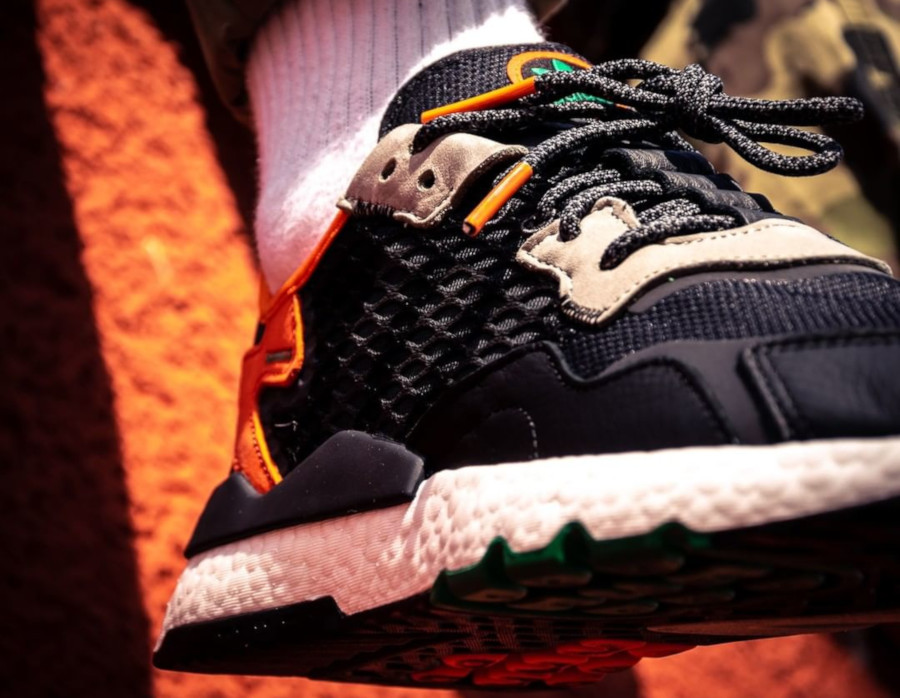 Adidas Nite Jogger Boost en tissu Cordura noir et gris (3)