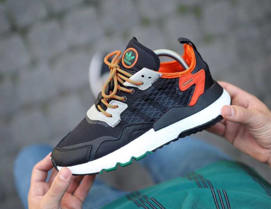 Adidas Nite Jogger Cordura Black Orange EE5549 (1)