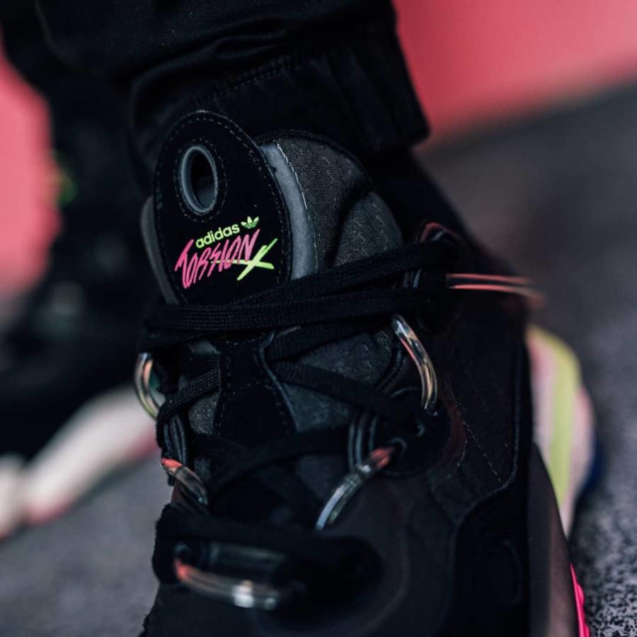 Adidas Originals Torsion X noire grise et jaune (3)