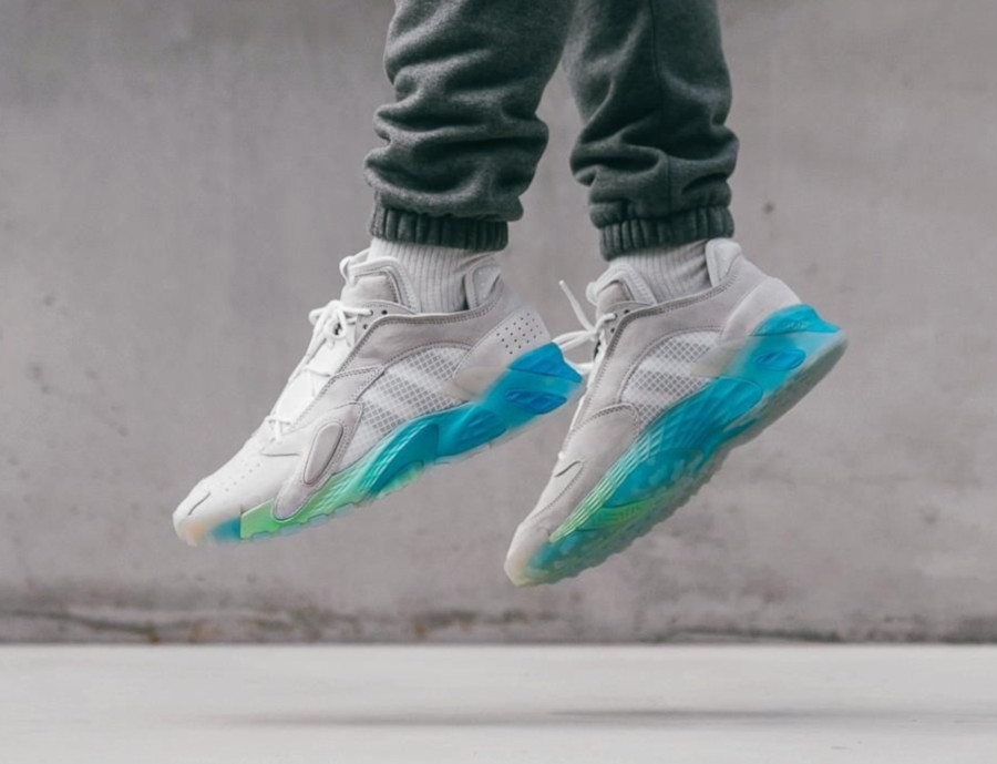 Adidas Streetball grise et turquoise (5)