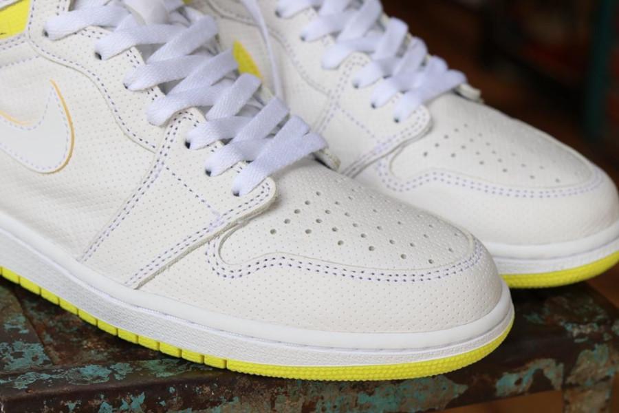 Air Jordan 1 blanche et jaune (septembre 2019) (2)