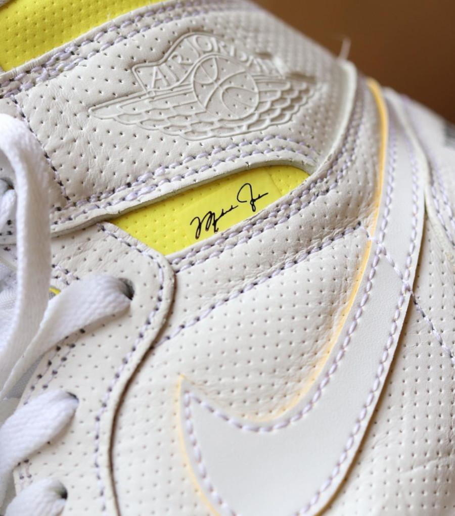 Air Jordan 1 blanche et jaune (septembre 2019) (3)