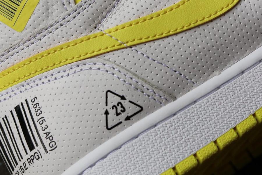 Air Jordan 1 blanche et jaune (septembre 2019) (5)