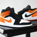 Air Jordan 1 Mid 'Black Starfish Orange' (Shattered Backboard)