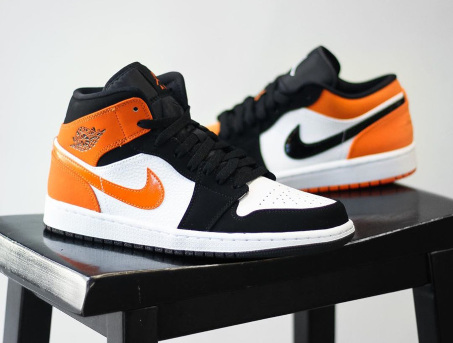 air jordan 1 orange noir