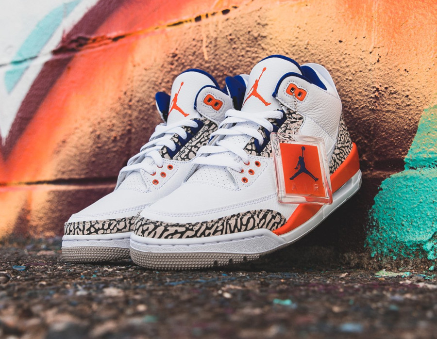 Air Jordan 3 blanche bleue et orange (3)