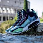 Air Jordan XXXIV 'Blue Void Green Glow'