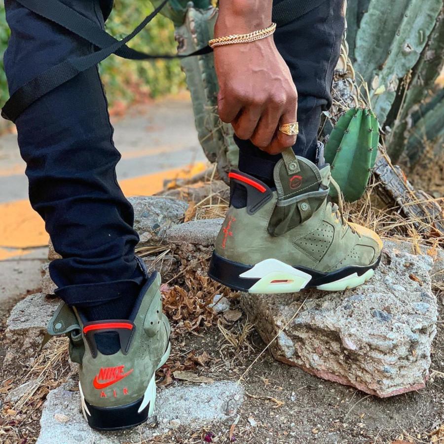 Air Jordan 6 Retro Travis Scott Olive Cactus Jack
