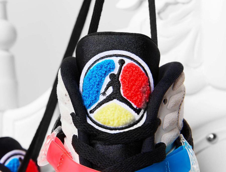 Air Jordan 8 Special Edition blanche bleue jaune et rouge (1)