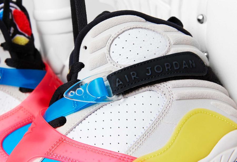 Air Jordan 8 Special Edition blanche bleue jaune et rouge (2)