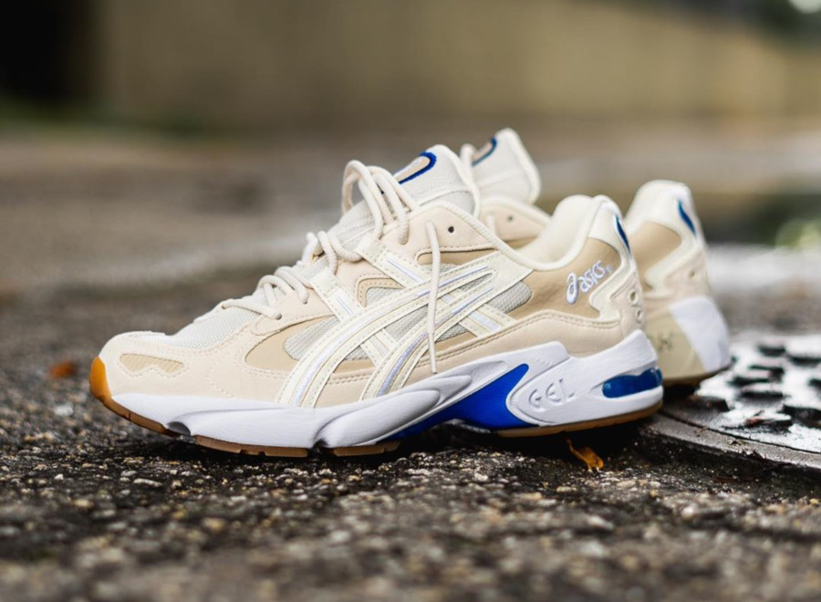 Asics Gel Kayano 5 OG beige blanche et bleue (1)