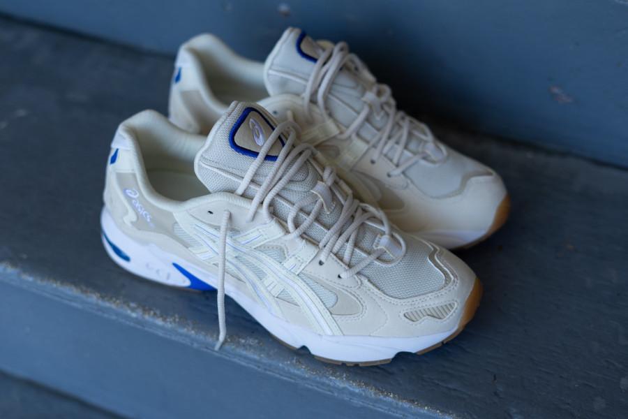 Asics Gel Kayano 5 OG beige blanche et bleue (3)