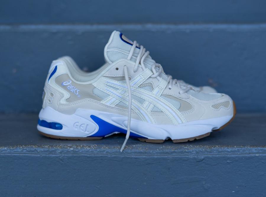 Asics Gel Kayano 5 OG beige blanche et bleue (4)