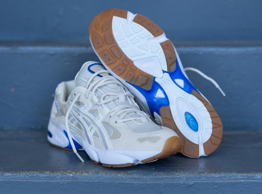 Asics Gel Kayano 5 OG beige blanche et bleue (5)