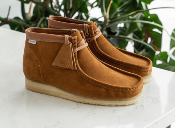 Clarks Wallabee Boot en suède marron (26146193)