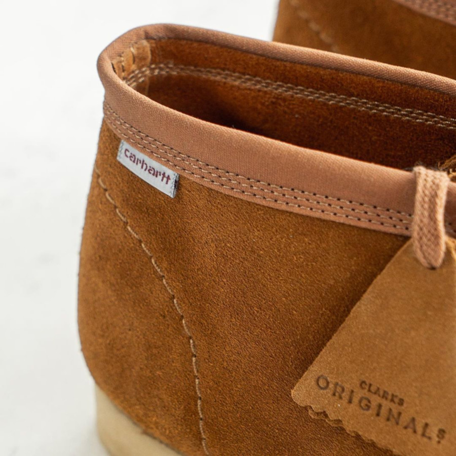Clarks Wallabee Boot en suède marron (26146195)