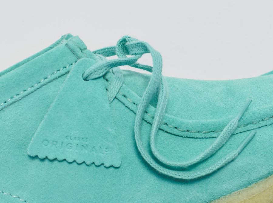 Clarks Wallabee en suède turquoise (1)