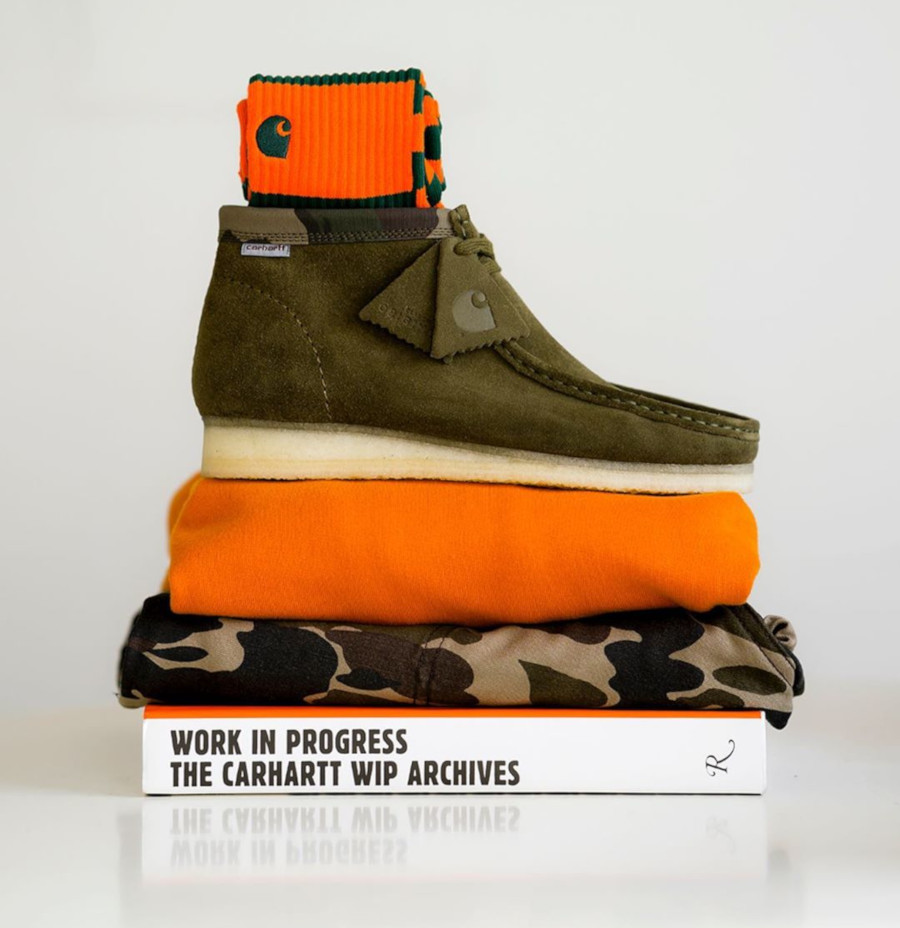 Clarks Wallabees Boot Carhartt WIP 'Olive Camo'