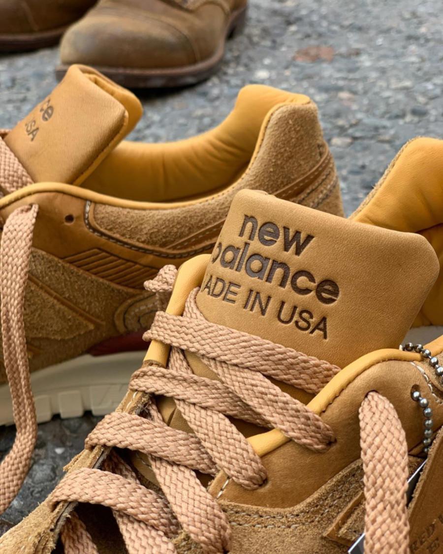 New Balance 997 en cuir et en suède marron (768651-60-9) (3)