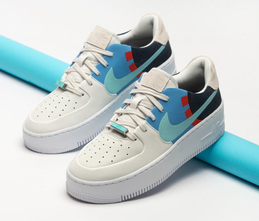 Nike Air Force 1 Low Sage Lux blanche bleu ciel turquoise BV1976-002 (2)