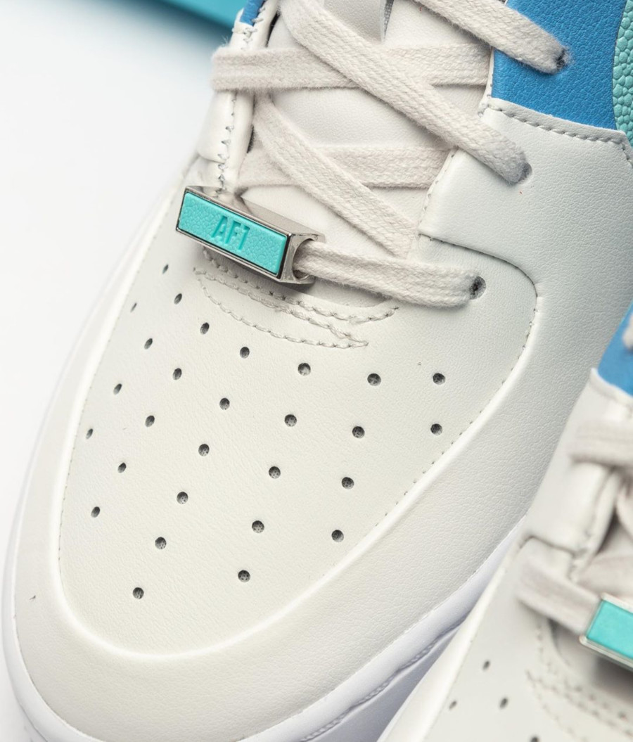 Nike Air Force 1 Low Sage Lux blanche bleu ciel turquoise BV1976-002 (3)